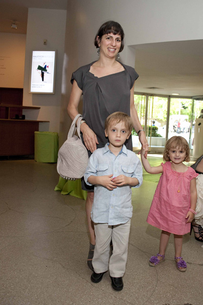Anna Kovner, granddaughter of LTA founder Natalie K. Lieberman, with Ava and Zachary Meisel