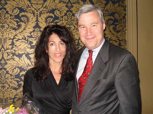 Event Chair Melanie Delman with Senator Sheldon Whitehouse