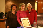 Rabbi Miriam Jerris of Huntington Woods. Shari Gelber, 2010 Sherwin T. Wine Lifetime Achievement Award recipient of Newton Centre, MA. Bonnie Cousens, Executive Director of the Society for Humanistic Judaism of West Bloomfield, MI.