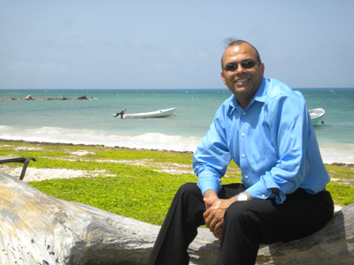 Anupam Govil, enjoying his 5 minutes on the beach