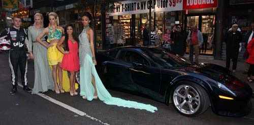 AR-1Supercar with Indy Race Driver Luca Forgeois, model Angelina Shiphilina, model Denise Dietrichs, Fashion