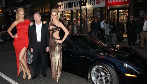Model Angelina Shipilina Nick Alessi of AR-1Supercar and model Denise Dietrichs