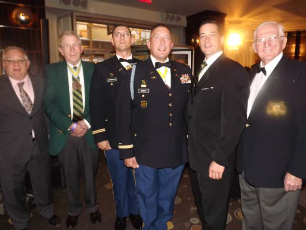 "Andy Leider, COL, James Tierney,COL. James Laurentius, LT,Lieutenant Colonel James C.Gonyo11, Battalion Commander, Ist Battalion 69th Infantry,  ""The Fighting Irish"", Jeff Sonyo, Lou Milgram,CWO"