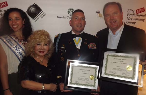 Ariane Datil, Miss Northern USA, Gloria Cressler,  Colonel James Gonyo, Bill Walsh,h,