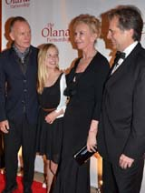Sting ,Georgia Hannock, Trudie Styler and Honoree Artist Stephen Hannock.  Photo by:  Rose Billings