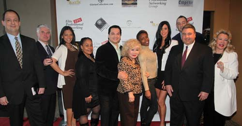 Scott Monahan, Michael P. Voudouris, Actor/Director Bill Lee Lanndis, Gloria T. Cressler, Model Kristin Aloan, Richard Alan, Atty. Vincent J. Romano and German Baroness Marion Michaela Von Buchard