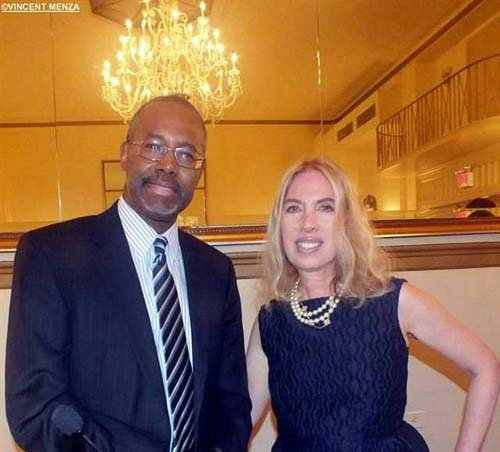 Dr. Ben Carson and Lauren Lawrence.  Photo by:  Vincent Menza