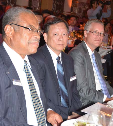 NY Secretary of State Cesar A. Perales, Consul General of China Lei Cheng,Edward Bastian President Delta - Airlines