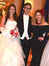 Leah Lane, Cole Rumbough, Joyce Brooks.  Photo by:  Rose Billings/Blacktiemagazine.com Sixtieth Anniversary international Debutante  ball