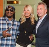 Seattle Seahawks Running Back Marshawn Lynch, Jennifer Montana and retired NFL quarterback Joe Montana attend the FAM 1st FAMILY FOUNDATION Charity Event at The Edgewater Hotel on December 14, 2014 in Seattle, Washington. Photo by Mat Hayward/Getty Images for 1st Family Foundation