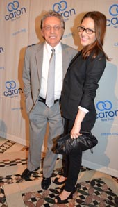 Frankie Valli, Recipient of The Caron Artist Award and Michelle Fleury.  Photo by: Rose Billings/Blacktiemagazine.com