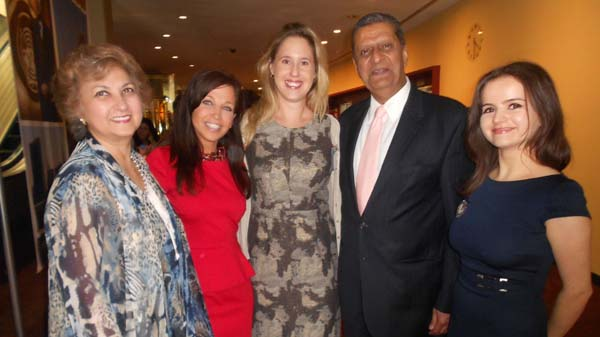 Tas Dossal, Wendy Diamond, Animal Fair, Amir Dossal, Chairman, Global Partnerships Forum,Melissa Powell, Head, Strategy and Partnerships/Business for Peace,Ana Marina Lebada