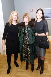 Annie Leibovitz , Anna Wintour and Diana DiMenna. Don Pollard/ New-York Historical Society