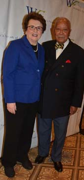 Billy Jean Kings and  The Honorable David Dinkins.  Photo by:  Rose Billings/Blacktiemagazine.com