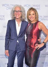 WWO founder Dr. Jane Aronson and the evening's host Katie Couric