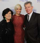Honorees Tonian Hohberg, Yolanda and David Foster.  Photo by:  Brandon Clark/ABImages