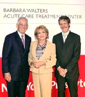 Dr. Steven J. Corwin, Barbara Walters, Dr. Robert E. Kelly. Photo by: Ellen Wallop