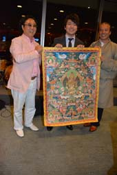 Guoren Lang, Lang Lang and #1 artist Niang Ban (Tibetan).  Photo by:  Rose Billings/Blacktiemagazine.com