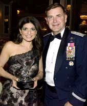 Tamsen Fadal and Lieutenant General Stephen L. Hoog.  Photo by:  Annie watt