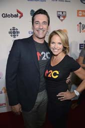 Jon Hamm and Katie Couric.  Photo by:  ABC/Image Group LA