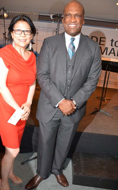 Sheri Yan and Dr. John Ashe.  Photo by:  Rose Billings/Blacktiemagazine.com