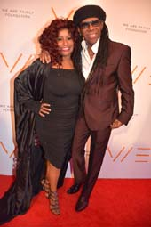 Chaka Khan and Nile Rodgers.  Photo y:  Rose Billings/Blacktiemagazine.com
