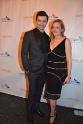 Bruce Pinkham, Presenter and Elizabeth Moss.  Photo by:  Rose Billings/Blacktiemagazine.com
