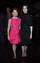 Jean Shafiroff and Anne Hathaway  (Photo credit: Tonya Wise for AP/Invision Pictures)