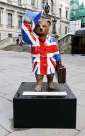The Paddington Trail included celebrity-designed bear statues located all over London till the end of December, when they were auctioned off for charity