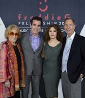 Myrna Gershon, Brian d�Arcy James, Bernadette Peters, Freddie Gershon.  Photo by:  Annie Watt (MTI)