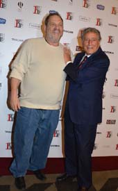 Harvey Weinstein and Tony Bennett.  Photo by:  Rose Billings/Blacktiemagazine.com