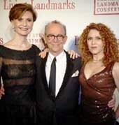 Peg Breen, President, The New York Landmarks Conservancy;, Joel Grey, Bernadette Peters, Photo by: James Salzano/New York Landmarks Conservancy