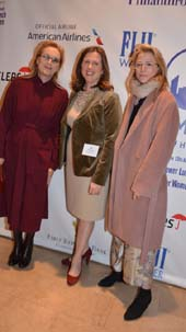 Meryl Streep, Beth Shapiro( Executive Director Citymeals-on-Wheels) and Mamie Gummer .  Photo by:  Rose Billings/Blacktiemagazine.com