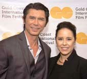 Lou Diamond Phillips and Patricia Riggen, GCIFF �Woman of Influence� Award recipient (Photo credit Lenny Marks)