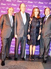 Kenneth Langone, David Koch, Julia Koch, and Gary Cohen.  Photo by:  Rose Billings/Blacktiemagazine.com