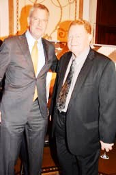Mayor Bill and Former NY Met Rusty Staub, Founder of Answer The Call.  Photo by:  Rose Billings/Blacktiemagazine.com