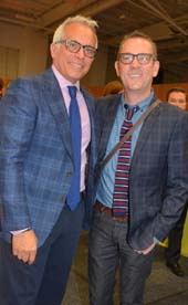 Geoffrey Zakarian, Chair, The Lambs Club and Ted Allen.  Photo by:  Rose Billings/Blacktiemagazine.com