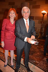 Dr. Judy Kuriansky and Mel Karmazin.  Photo by:  Rose Billings/Blacktiemagazine.com