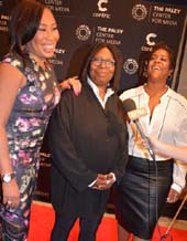 Alex Martin Dean, Whoopi Goldberg and Leisa Rachal.  Photo by:  Rose Billings/Blacktiemagazine.com