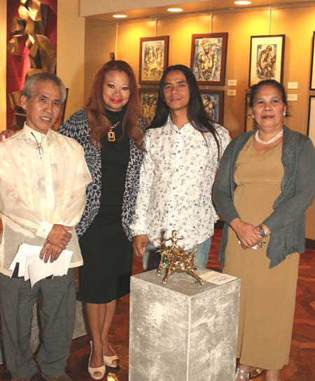 Celso Pepito, Ms. Aquino, Angelico Villanueva, and Fe Madrid Pepito