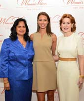 Dr. Sharmila Makhija, Christy Turlington Burns and Dr. Patricia Allen.  Photo by:  Patrick McMullan.com