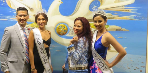 Son Nguyen, Loria Song, Miss Tourism New York, USA,Aurora Aquino, Micah Yu, Miss Tourism, New Jersey, USA