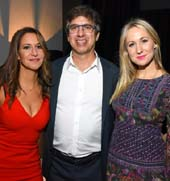 RachelFeinstein RayRomano and NikkiGlaser .  Photo by: Araya Diaz/Getty Images for International Myeloma Foundation