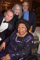 Martina Arroyo,with Murray Rosenthal, D.Vaughn and Garry Spector.  Photo by:  Rose Billings/Blacktiemagazine.com