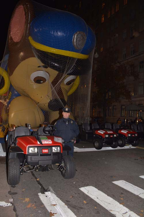 Chase Paw Patrol and NYPD120 Pct Police Officer Pilzer,.  Photo by:  Rose Billings/Blacktemagazine.com