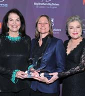 Sherry Lansing, honoree Cindy Holland and presenter actress Kate Mulgrew.   Photo by:  Vince Bucci