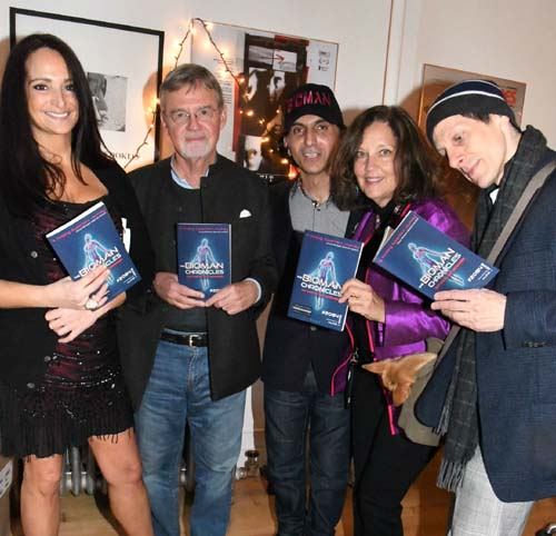 (left to right) - Emma Snowden-Jones, Kai Bird (Pulitzer Prize Winner), Alfie Rustom, Susan Goldmark, Forest Mars. Photo by:  Rose Billings/Blacktiemagazine.com