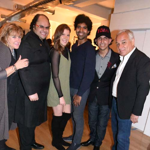 (left to right) Laurie Meadoff, Kunal Sood, Leah Jonas, Jan Lucanus, Alfie Rustom, Arthur Bavelas.  Photo by:  Rose Billings/Blacktiemagazine.com