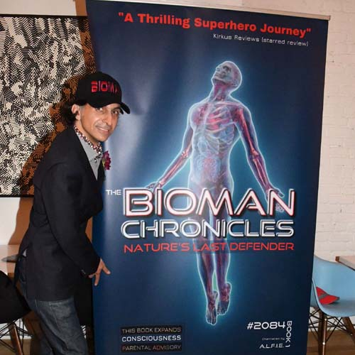 Alfie Rustom,  The Bioman Chronicles, Author.  Photo by:  Rose Billings/Blacktiemagazine.com