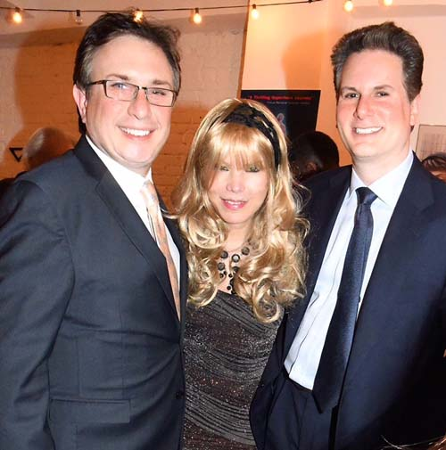 Vivienne Bardot with David Shareck and David Schorr. .  Photo by:  Rose Billings/Blacktiemagazine.com